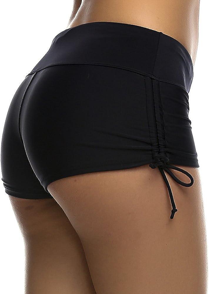 DUSISHIDAN Women's Swim Shorts with Side Ties