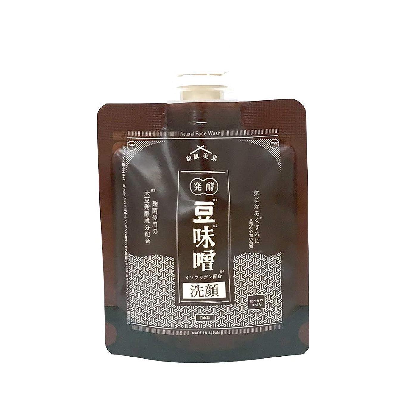 安定石化する巨大な和肌美泉 発酵?豆味噌イソフラボン洗顔 100g