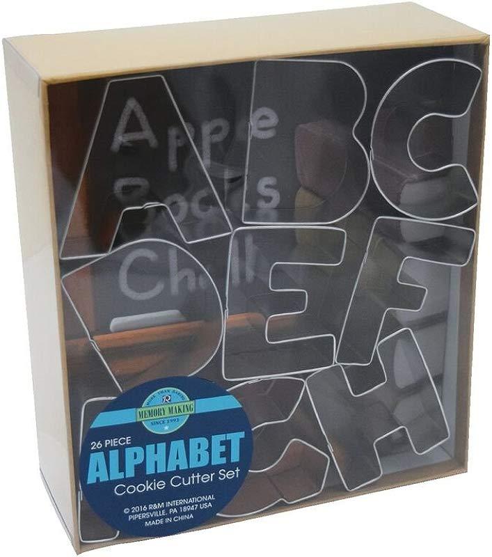 R M International 1954 Alphabet 3 Cookie Cutters 26 Piece Set In Gift Box