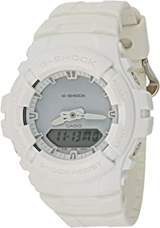 Men's G Shock G100CU-7A White Resin Japanese Quartz Diving Watch