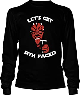 Let's Get Sith Faced T Shirt, Darth Vader Star Wars T Shirt - Long Sleeve Tees