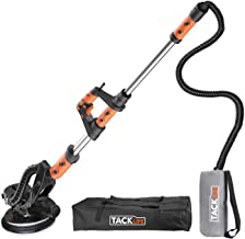 TACKLIFE Drywall Sander, Sander Machine with 6 Speeds, 12 Sandpapers, High Dust Removal, Retractable Handle and Carrying Bag