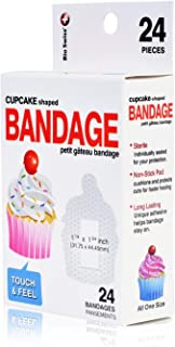 BioSwiss Novelty Bandages Self-Adhesive Funny First Aid, Novelty Gag Gift (2 Boxes of 24 Bandages) (Cupcake)