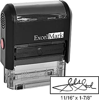 Custom Signature Stamp - Self Inking - Black Ink - Small
