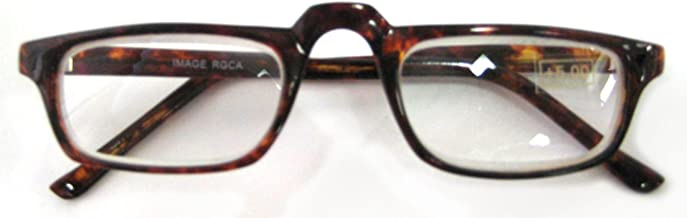 High Magnification, Unisex Readers, Half Frame, 4.50 Strength, by American Reading Glasses