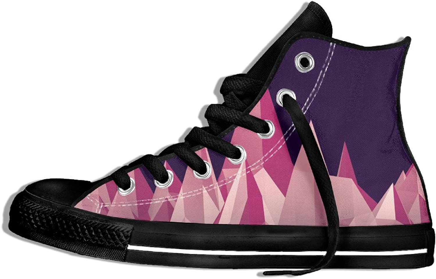 Efbj Art Triangle Unisex Comfortable High Top Canvas shoes Sneakers for Men and Women