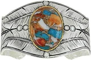 Montana Silversmiths Nature's Beauty Glacier Turquoise Feather Cuff Bracelet