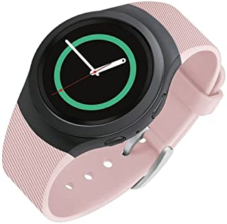 Lakvom Silicone Sport Style Watch Band for Samsung Gear S2 (Vintage Rose Twill)