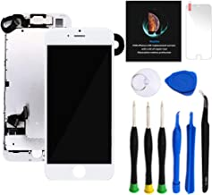 "Keytas Compatible with iPhone 7 Plus Screen Replacement Kit White 5.5"" LCD for.."