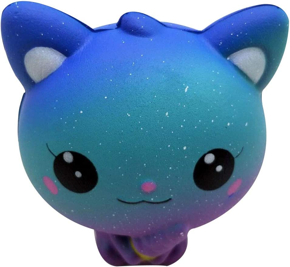4.3 Inches Toy Cat Galaxy Ice Cream Kawaii Soft Slow Rising Scented Animal Toy Stress Relief Kid Toys Gift Collection Slow Rising Toy Decompression SimulationToys Cure Toy