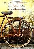 dicker Tagebuch Kalender 2019 'Das Leben ist wie Fahrrad fahren, um die Balance zu halten musst du in Bewegung bleibten' (Albert Einstein): DIN A4 - 1 Tag = 1 Seite