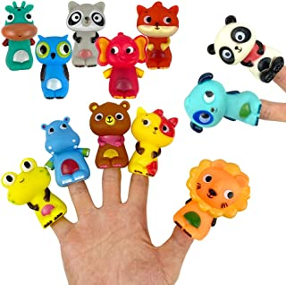 LOT OF 10 Rubber Wriggly wiggly Octopus TENTACLE Finger puppets rm2670