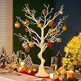 Sziqiqi 76cm Arbre de Décoration de Table de Mariage Simulé, Arbre de Souhaits de Mariage Amovible, Arbre de Table de Mariage, Sapin de Noël, Idée de Fête d'anniversaire Halloween Noël, Faux Arbre