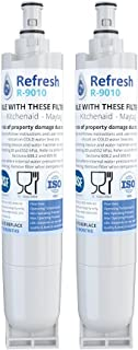 Refresh Replacement Refrigerator Water Filter Compatible with Kenmore 46-9010, 469010, 9010, 46-9085, 9085, AQUACREST AQF-4396508, Aquafresh WF285 and IcePure RFC0500A (2 Pack)