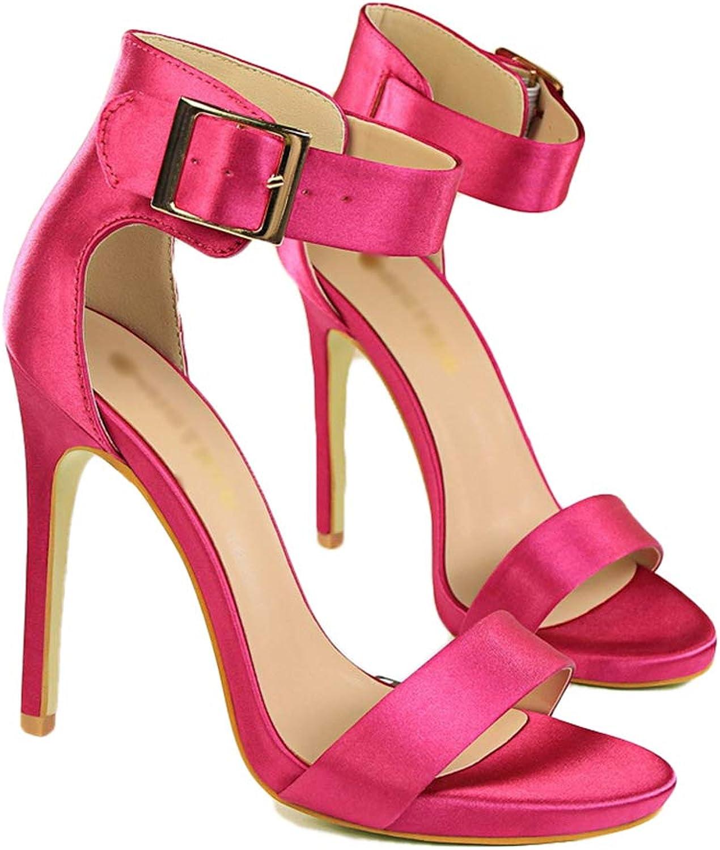 Drew Toby Women High Heels Sexy Buckle Fashion Sandal