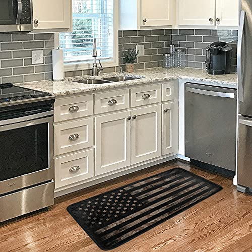 Kitchen Rugs Runner American USA Flag with Desert Camouflage Doormat Bath Rugs American Independence Day July 4th Area Rugs for Bathroom Kitchen Indoor 39' X 20'