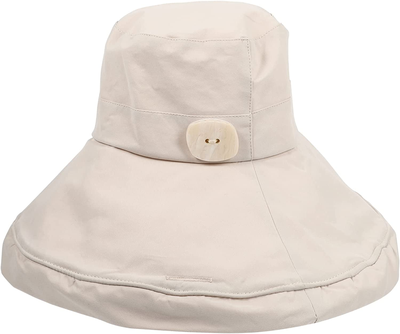 KESYOO Lady Summer Sun Hat Fashion Bucket Hat Beach Visor Hat Large Hat UV Protection Woman Girl