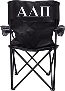 VictoryStore Outdoor Camping Chair - Alpha Delta Pi Black Folding Camping Chair with Carry B