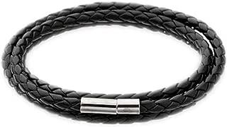 Korean New Men Fashion Leather Bracelets Charm Bangle Handmade Round Rope Metal Buckle PU Leather Dropship Accessories