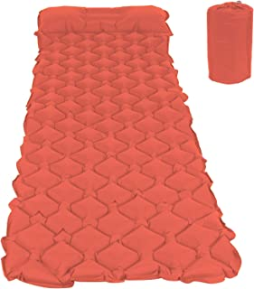 Sleeping Pad, Backpacking Pad Camping Inflatable Air Cushion, for Picnic Travel(orange)