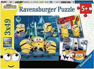 Ravensburger Kinderpuzzle - 05082 Witzige Minions - Puzzle für Kinder ab 5 Jahren, mit 3x49 Teilen