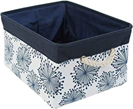uxcell Collapsible Storage Basket Bins with Handles,Fabric Storage Bins with Drawstring Closure for Clothes Towel Toys Org...