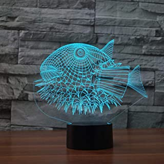 Puffer Fish 3D Night Lights 3D USB Led Lamp Animal 7 Colors Changing Desk Table Lamp Home Bedroom Decor for Children Friend Gift
