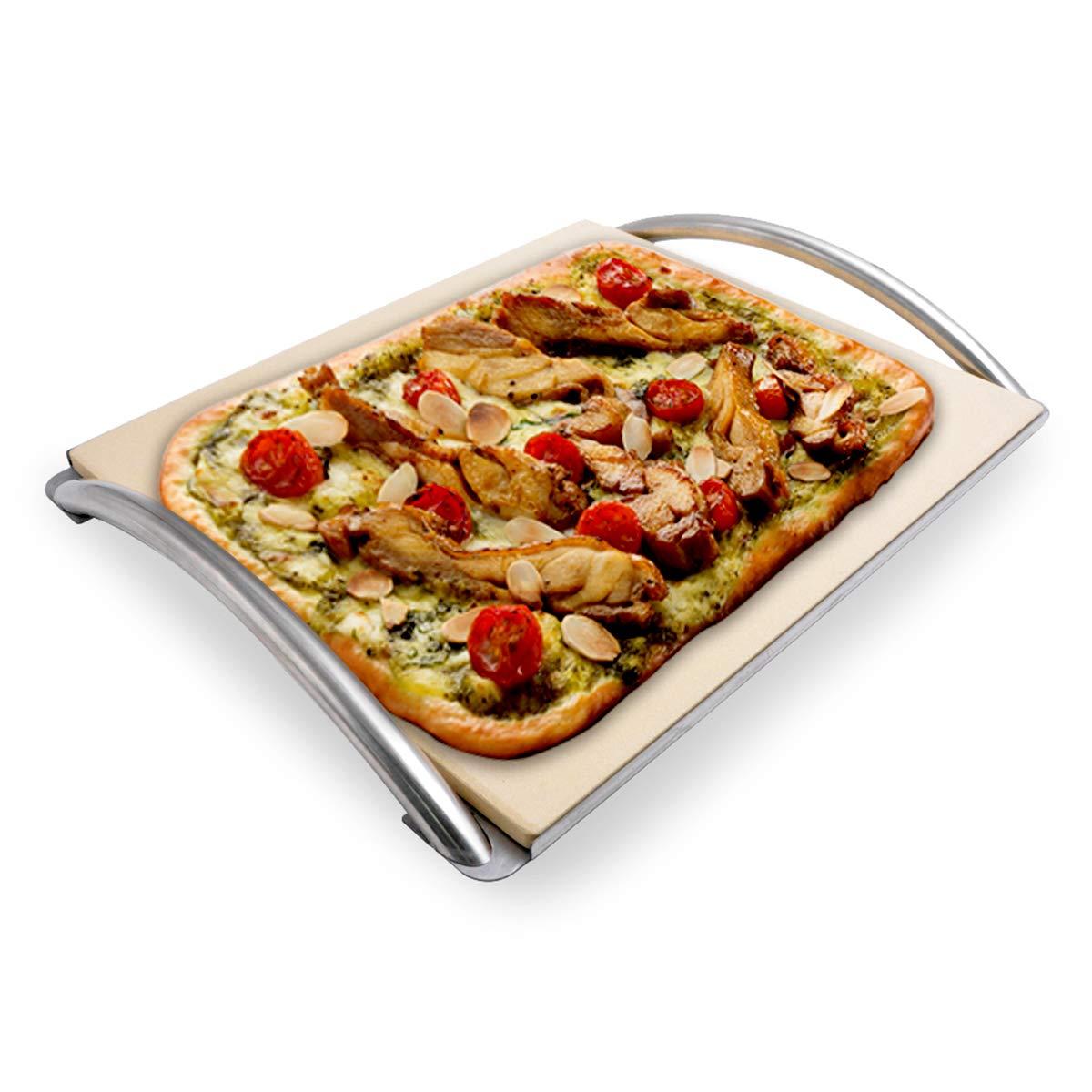 Skyflame Rectangle Ceramic Baking Pizza