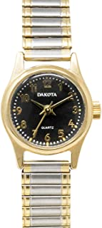 Dakota Petite Ladies Round Twist 20mm Stainless Steel Expansion Band Water Resistant Watch