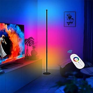 CRAZCALF Lampadaire RGB Couleur LED Lampadaire Salon Décoration de Style Minimaliste Moderne, Lampadaire LED Luminosité Ré...
