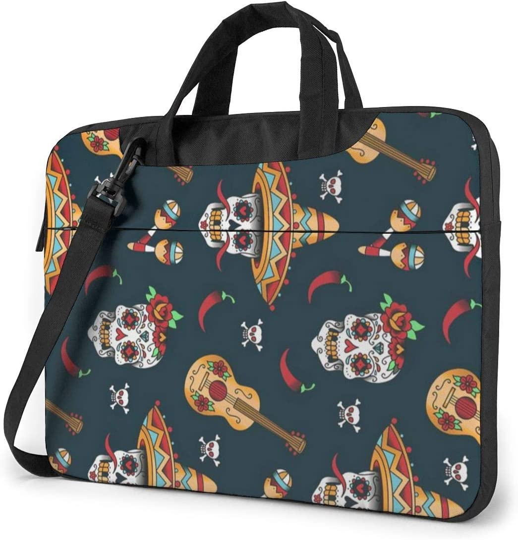 HengStore Shockproof Laptop Bag Mexican Skulls Computer Briefcase Durable Case Sleeve for PC Notebook Tablet 13 inch