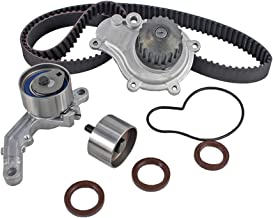 DNJ TBK151AWP Timing Belt Kit with Water Pump for 2003-2010 / Chrysler, Dodge, Jeep/Caravan, Liberty, PT Cruiser, Sebring, Stratus, Voyager, Wrangler / 2.4L / DOHC / 16V / EDZ/VIN 1, VIN 9
