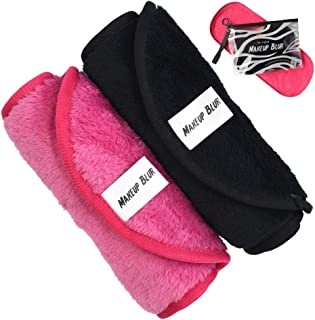Reusable Makeup Remover Cloth 2 Towels Per Set - Gently remove mascara, exfoliate skin, clean your face - Eraser for you makeup! Wipe your face free only with warm water - MAKEUP BLUR