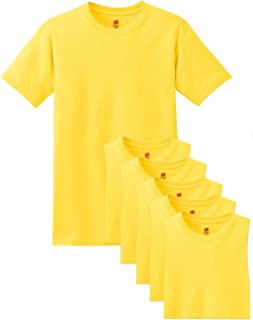 Hanes Men's Comfortsoft 6 Pack Crew Neck Tee - Yellow - L