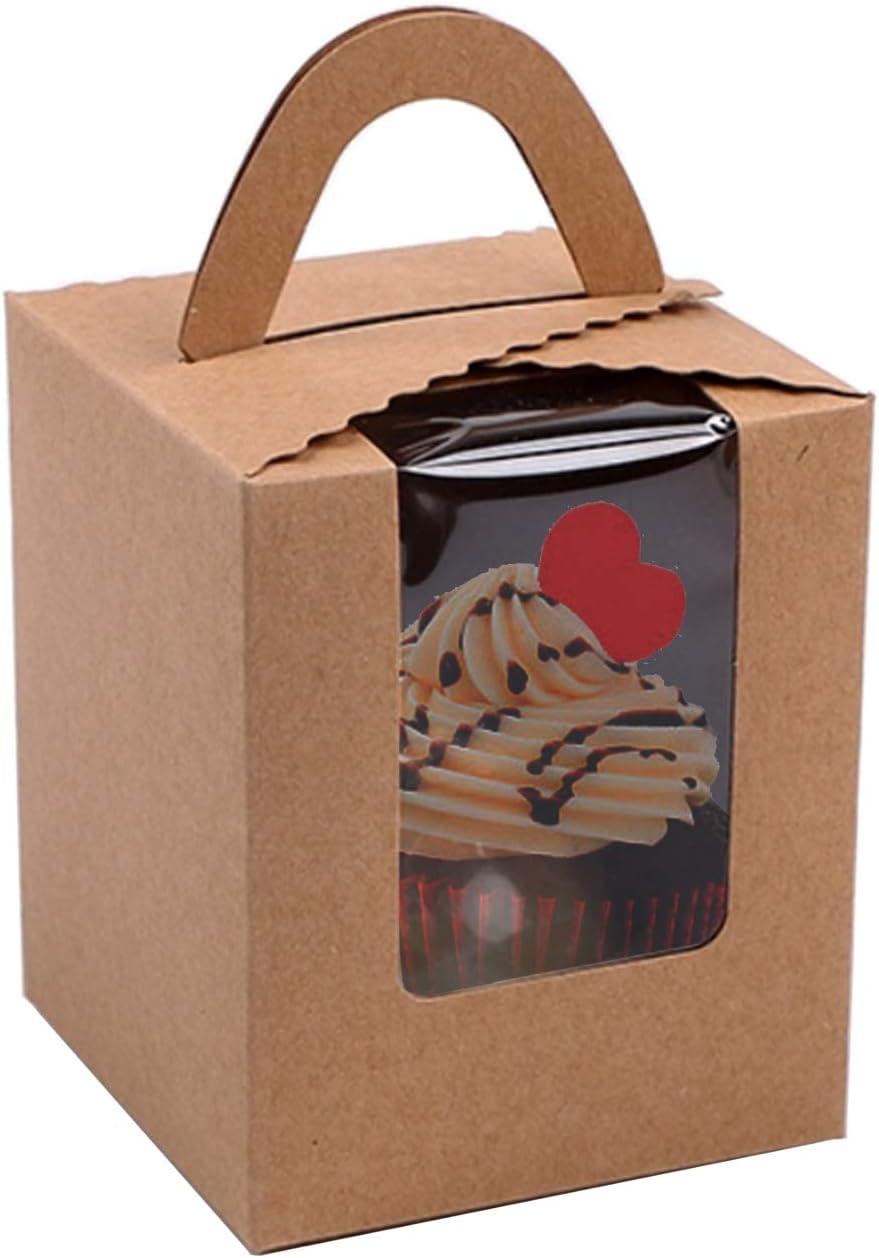 25 Pcs Paper Ranking TOP8 Cupcakes Boxes Single Weekly update Individual Cupcake G Portable