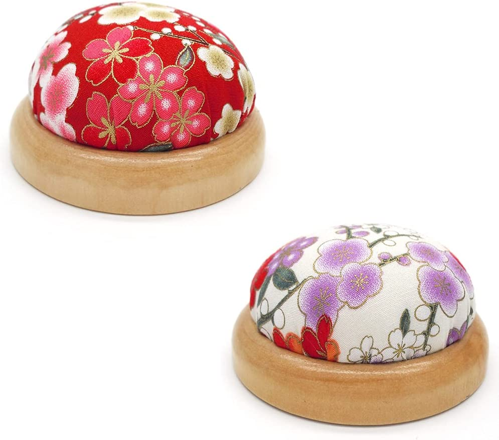 2 Deluxe Pieces Popular brand in the world Ball Shaped Needle Bottom Pin Hol Cushion Wooden