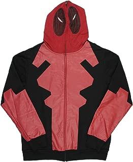 Marvel Comics Deadpool Costume Mask Hoodie Full Zip Mens Movie Pop Legend