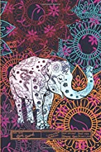 Elephant Mandala Story Journal Composition Notebook Half Unruled Drawing Space Half Wide Ruled Lines: Combined Dual Write and Sketch Blank Workbook