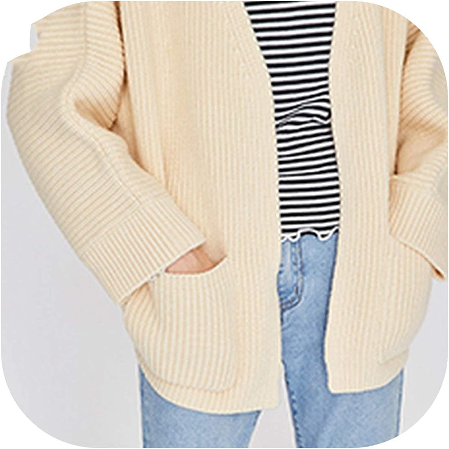 Cardigan Thick Knitted Cardigan Loose Jumper Tops 2019