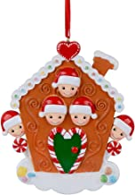 MAXORA Gingerbread House Personalized Family of 5 Ornament for Christmas Tree Decoration