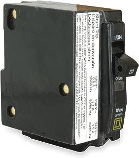 Square D QO1201021 20 AMP, 1 Pole SHUNT Trip Breaker, 1P 20A 120V Coil Plug-in Style