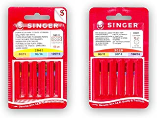 comprar comparacion Singer Pack de 2 Paquetes de Agujas para Máquina de Coser Universales y para Punto (y Elásticos) 2020 2045 (822R - 848R) S...
