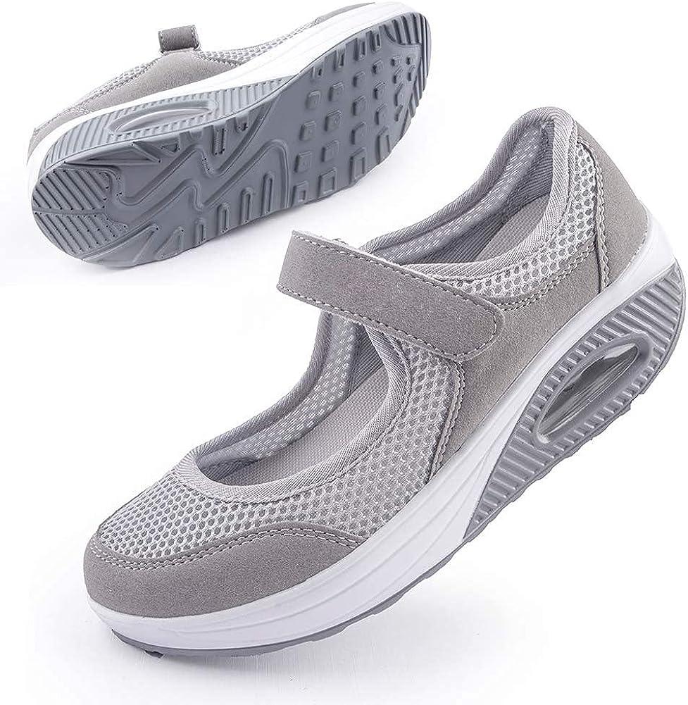 Women's Comfortable Working Nurse Shoes Non-Slip Adjustable Breathable Walking Buffer Fitness Casual Nursing Orthotic Lightweight Shoes Arthritis, Diabetes Heel Pain