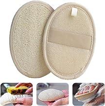 Naturlig Loofah svamp dekontaminering badhandduk återanvändbar dubbelsidig förtjockning exfolierande handduk