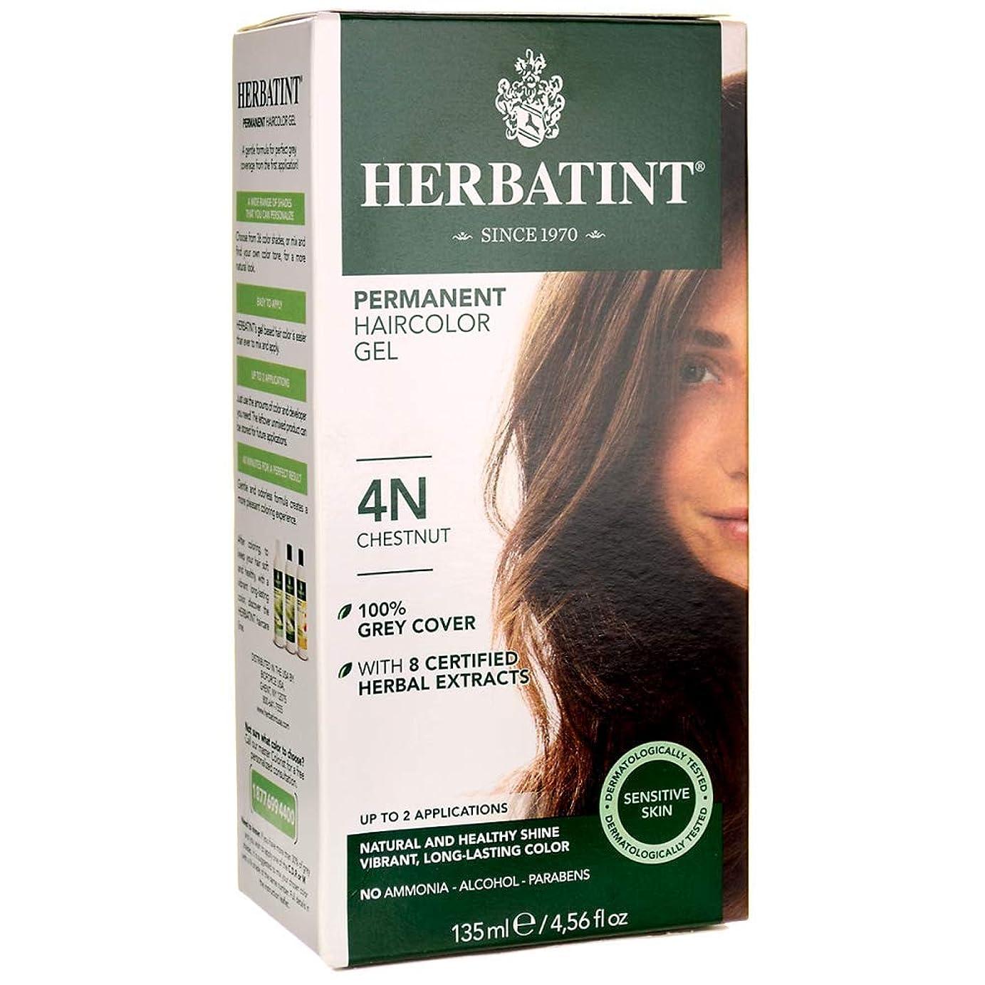 微妙原点イタリック海外直送品Herbatint Permanent Chestnut (4n), 4 Oz by Herbatint