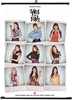 Youyouchard Kpop Twice YES or YES Wall Scroll Poster Twice Official Postcard Twice Poster, Great Gifts for Fans