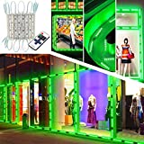 Upgraded LED Storefront Lights, EAGWELL 40 Ft 80 Pieces Waterproof Window Light 4 Sets 5054 Green LED Light Module Storefront Strip Light for Business Store Light Advertising Signs