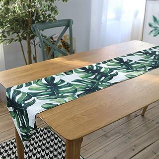 Ruankenshop Simplicité Chemin De Table Plante Chemin De Table À Motifs Chemin De Lit Decoration Vintage Decoration Mariage...