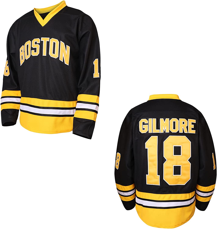Happy Popular standard New life Gilmore 18 Boston Adam Sandler 1996 Hockey Movie Jerse Ice