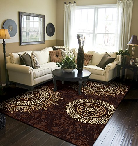 Modern Area Rug Brown Large Rugs for Living Room 8x10 Clearance Under 100